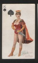 Rare 1890 cigarette cards tobacco insert playing cards
